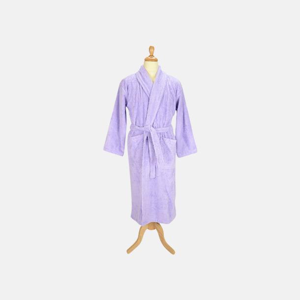 Ljuslila (pastell) Färgglada badrockar med reklambrodyr