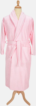 Ljusrosa Färgglada badrockar med brodyr