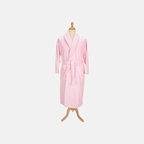 Ljusrosa (pastell) Färgglada badrockar med reklambrodyr