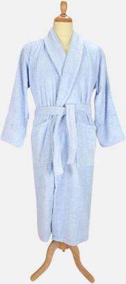 Ljusblå Färgglada badrockar med brodyr