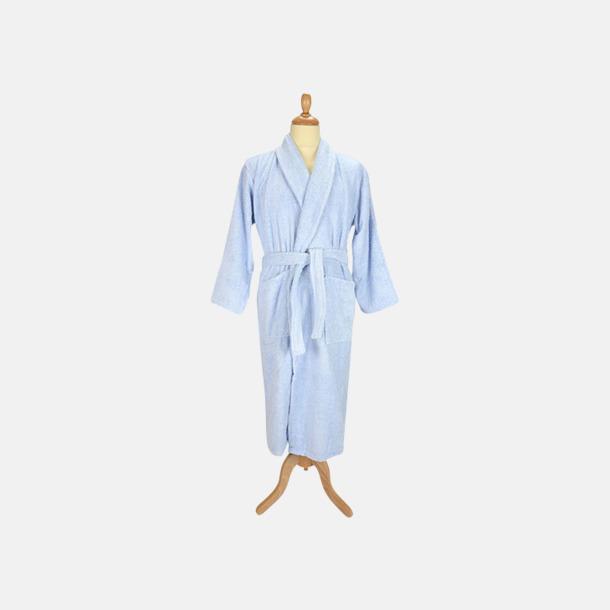 Ljusblå (pastell) Färgglada badrockar med reklambrodyr