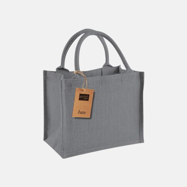 Graphite Grey/Graphite Grey Små jutepåsar med reklamtryck
