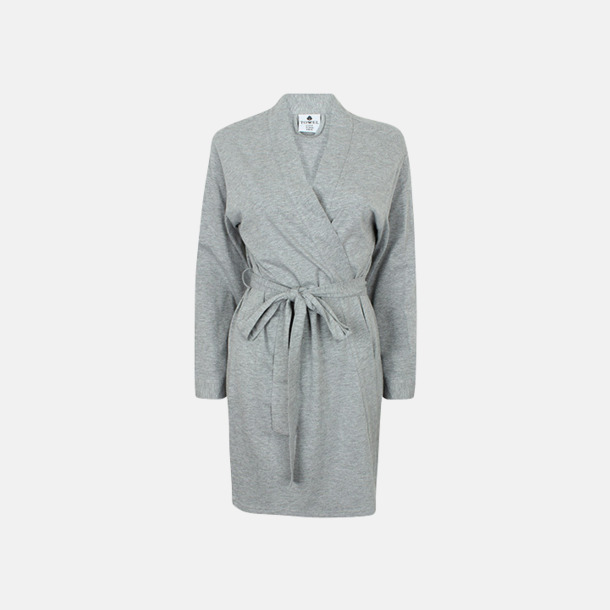 Heather Grey Feminina morgonrockar med brodyr