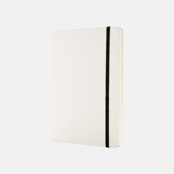 Vit A5 anteckningsböcker i konstläder med reklamtryck