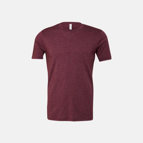 Heather Maroon T-shirts för herr och dam - med reklamtryck