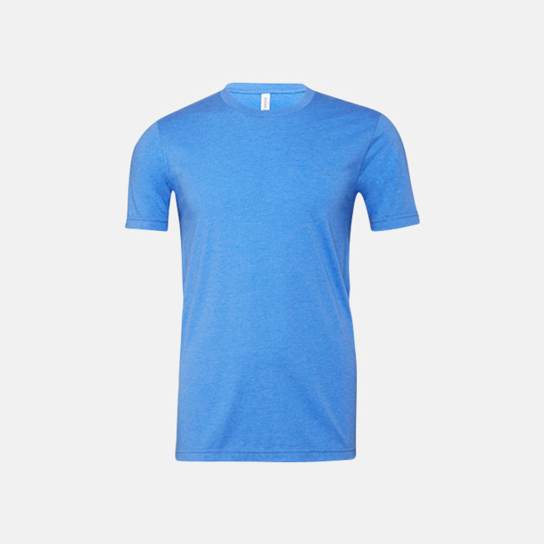 Heather Columbia Blue T-shirts för herr och dam - med reklamtryck