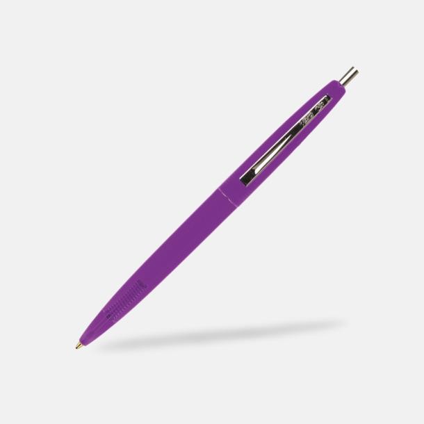 Clear Purple Ekologiska bläckpennor från Bic med reklamtryck