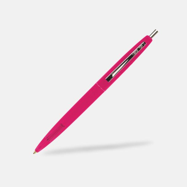 Clear Pink Ekologiska bläckpennor från Bic med reklamtryck