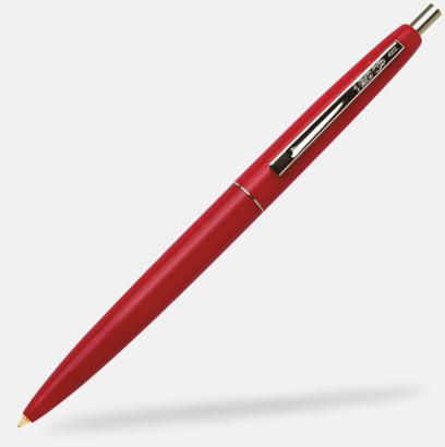 Röd Ekologiska bläckpennor från Bic med reklamtryck