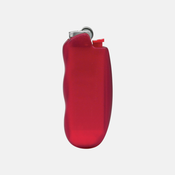 Röd Ergonomiskt formade tändarfodral från BIC med reklamtryck