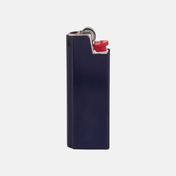 Marinblå Vita BIC-tändare med aluminiumfodral med reklamtryck