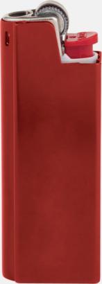 Röd Vita BIC-tändare med aluminiumfodral med reklamtryck