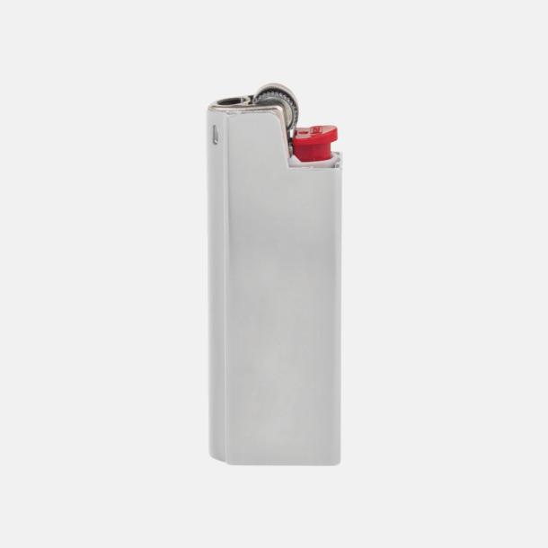 Silver Vita BIC-tändare med aluminiumfodral med reklamtryck