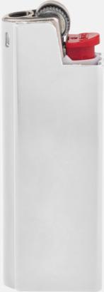 Vit Vita BIC-tändare med aluminiumfodral med reklamtryck