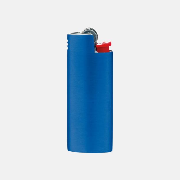 Metallic Blue Fina fodral för tändare från BIC med reklamtryck