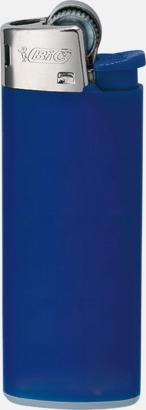 Helmörkblå Bics populära tändare med reklamtryck