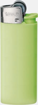 Green Pastel Bics populära tändare med reklamtryck