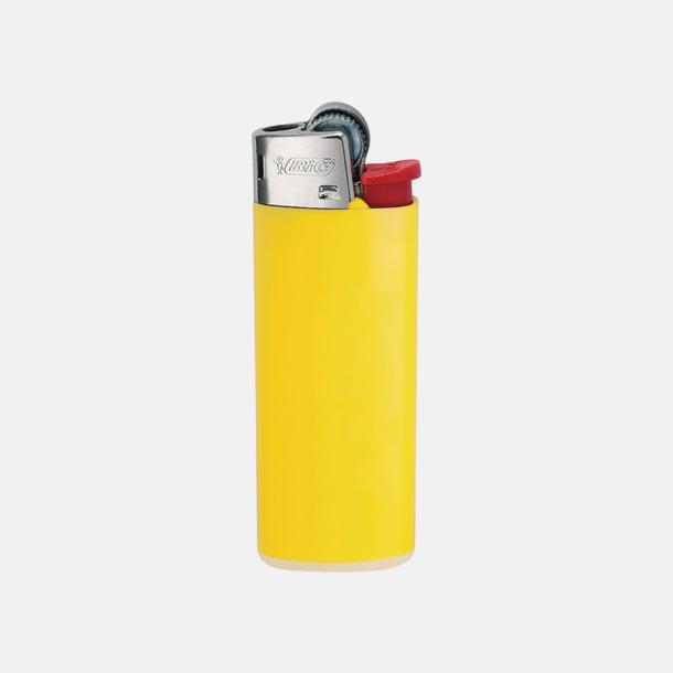 Ljusgul Bics populära tändare med reklamtryck