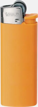 Orange Pastel Bics populära tändare med reklamtryck