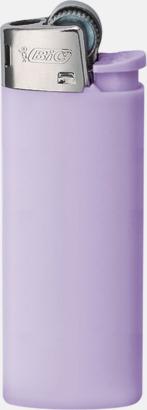 Purple Pastel Bics populära tändare med reklamtryck