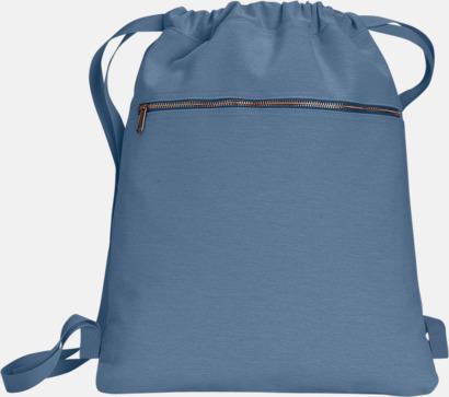Blue Jean Trendiga ryggsäckar med reklamtryck
