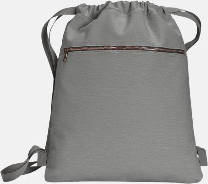 Grå Trendiga ryggsäckar med reklamtryck