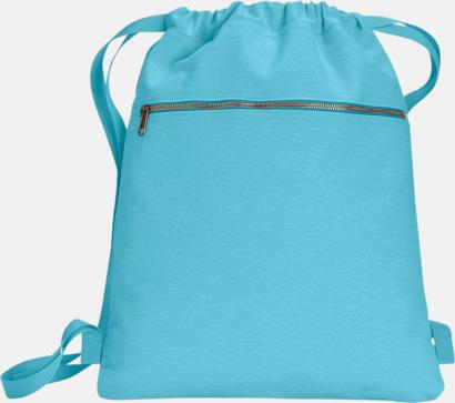 Lagoon Blue Trendiga ryggsäckar med reklamtryck
