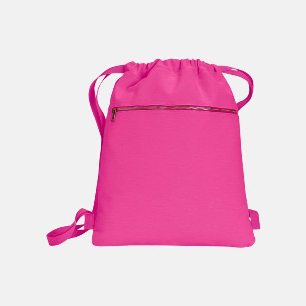 Neon Pink Trendiga ryggsäckar med reklamtryck
