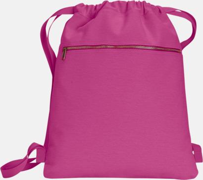Raspberry Trendiga ryggsäckar med reklamtryck