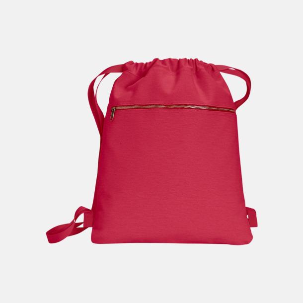 Röd Trendiga ryggsäckar med reklamtryck