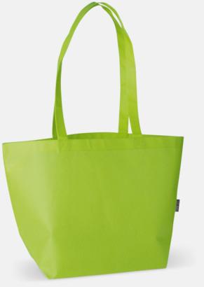 Ljusgrön Non woven tygpåsar med reklamtryck