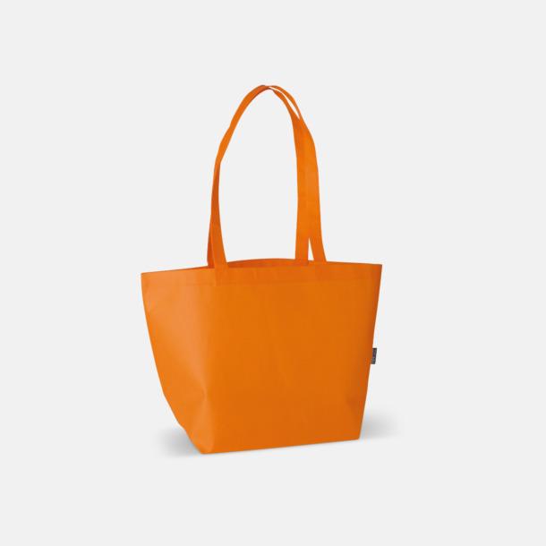 Orange Non woven tygpåsar med reklamtryck