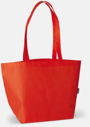 Röd Non woven tygpåsar med reklamtryck