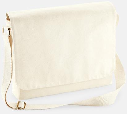Natur (standard) Fairtrade-certifierade väskor i 3 storlekar med reklamtryck
