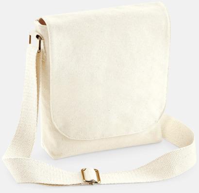 Natur (mini) Fairtrade-certifierade väskor i 3 storlekar med reklamtryck