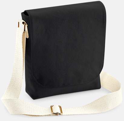 Svart (mini) Fairtrade-certifierade väskor i 3 storlekar med reklamtryck