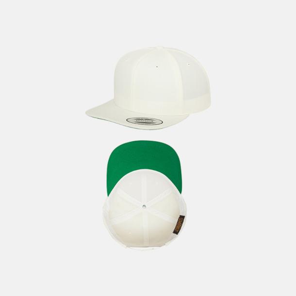 Natur / Grön Snapback kepsar med flexfit - med reklamtryck