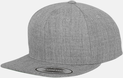 Heather Grey Snapback kepsar med flexfit - med reklamtryck