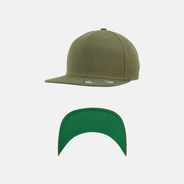Buck/Grön Snapback kepsar med flexfit - med reklamtryck