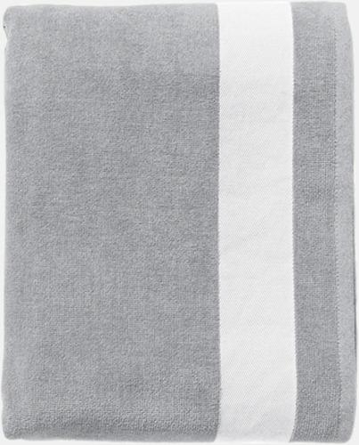 Pure Grey/Vit Bomullshanddukar från stranden med reklambrodyr
