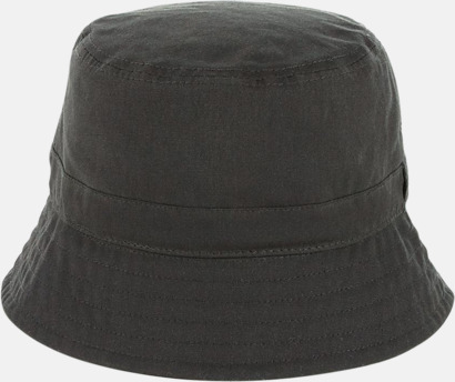 Dark Olive Vaxad bucket-hat med egen logga