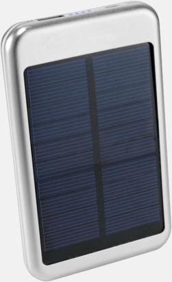 Silver Solcellsdrivna powerbanks 4000 mAh med egen logga