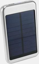 Solcellsdrivna powerbanks 4000 mAh med egen logga