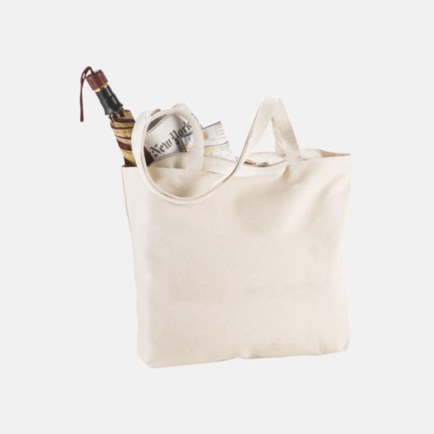 Bomullspåsar med blixtlås - med reklamtryck