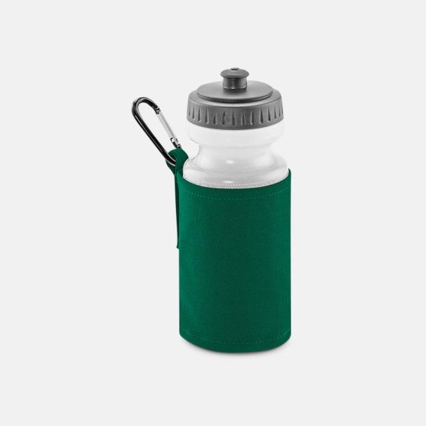 Bottle Green Vattenflaska med hållare - med reklamtryck