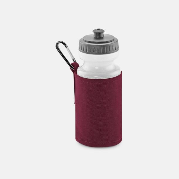 Burgundy Vattenflaska med hållare - med reklamtryck