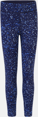 Navy/Navy Bubbles (barn) Tvåsidiga leggings med reklamtryck