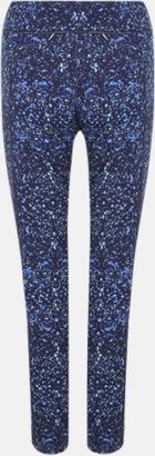 Navy/Navy Bubbles (dam) Tvåsidiga leggings med reklamtryck