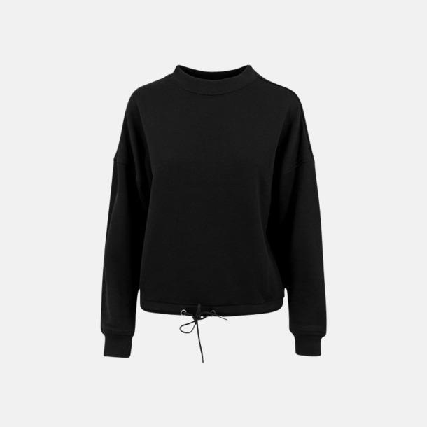 Svart Oversize damtröjor med reklamtryck