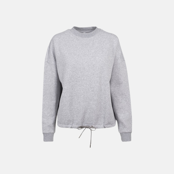 Heather Grey Oversize damtröjor med reklamtryck